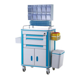 PVC-Material-Mobile-Hospital-Medical-Anesthesia-Crash-Trolley-Cart